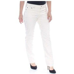 LAUREN Jeans Co. Women's Petite White Corduroy 2P